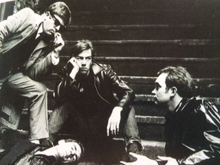 "Robert Lindsay (centre stage). Martin Sykes on right of picture. Clarendon College production of ""a Hatful of Rain"" 1966"